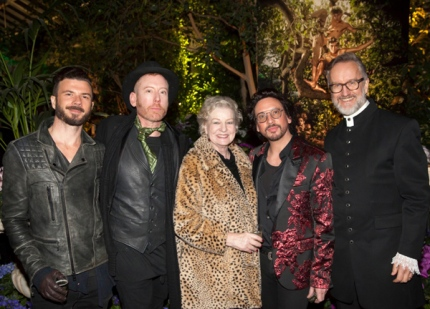from left to right: Matthew Ryan (Visual Thing), Gerard O'Connor, Pamela Darragh (Melbourne Spring Fashion Week), Marc Wasiak and Alasdair Foster (photo © Stu Morley)